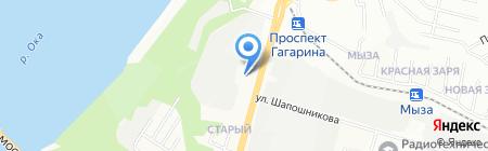 H2O Дизайн НН на карте Нижнего Новгорода