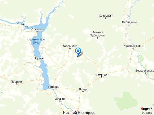 деревня Мешково на карте