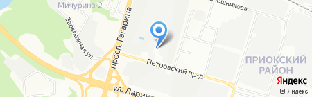 Артель на карте Нижнего Новгорода