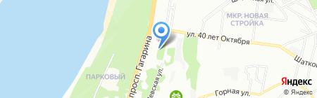 Автопилот на карте Нижнего Новгорода