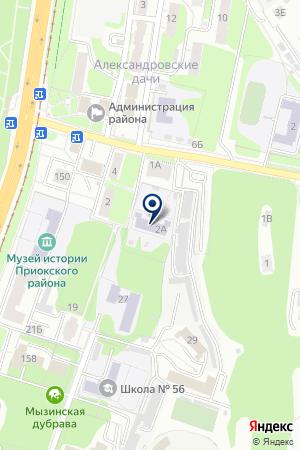МДОУ ПРИОКСКИЙ РАЙОН ДЕТСКИЙ САД № 12 на карте Нижнего Новгорода