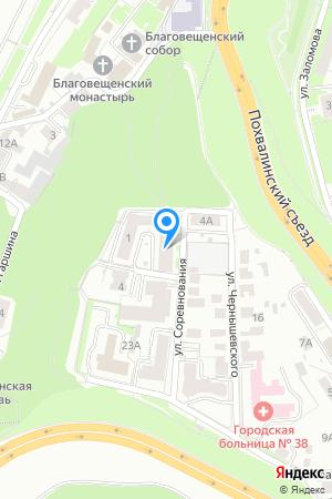 Дом 1 по ул. Соревнования, ЖК Гребешковский откос на Яндекс.Картах