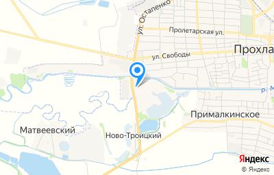 Местоположение на карте пункта техосмотра по адресу Респ Кабардино-Балкарская, г Прохладный, ул Остапенко, д 6