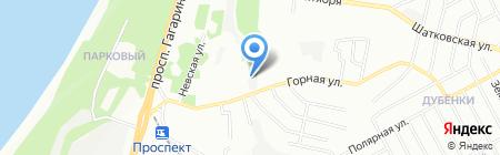 На ходу на карте Нижнего Новгорода