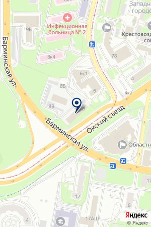 АВАРИЙНАЯ СЛУЖБА РАДИОУЗЛА на карте Нижнего Новгорода