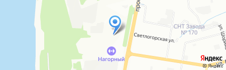 Теко на карте Нижнего Новгорода