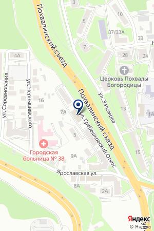 ОХРАННОЕ ПРЕДПРИЯТИЕ БЕРЕГ на карте Нижнего Новгорода
