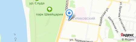 У Ксюши на карте Нижнего Новгорода