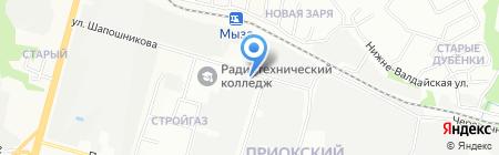 Сингента на карте Нижнего Новгорода