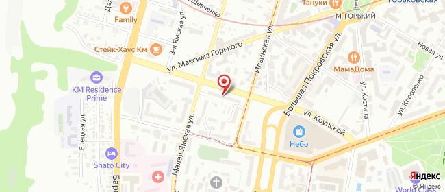 Карта расположения пункта доставки Нижний Новгород Ильинская в городе Нижний Новгород