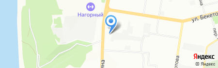Старт на карте Нижнего Новгорода