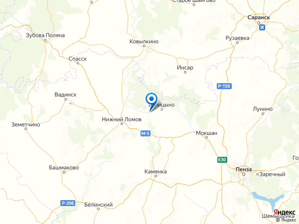 село Аршиновка на карте