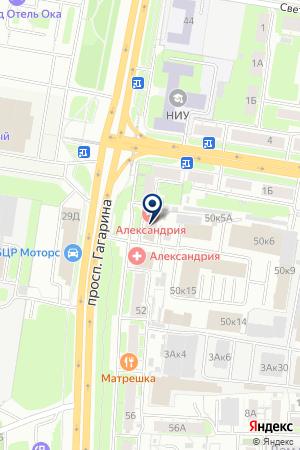 МЕБЕЛЬНЫЙ МАГАЗИН КАМЕЛОТ на карте Нижнего Новгорода