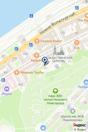 СТРОИТЕЛЬНАЯ ФИРМА ЕВРОПАРК на карте Нижнего Новгорода
