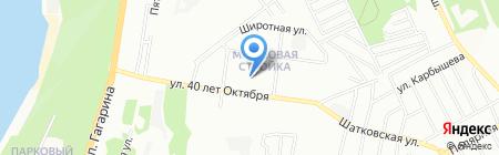 Детский сад №234 на карте Нижнего Новгорода