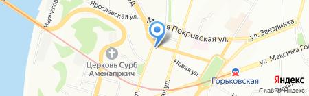 Сартр на карте Нижнего Новгорода