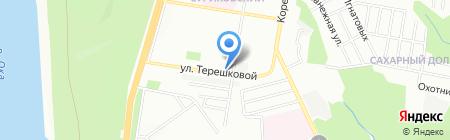 На Терешковой на карте Нижнего Новгорода