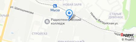Волговятстройкомплект на карте Нижнего Новгорода
