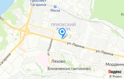 Местоположение на карте пункта техосмотра по адресу г Нижний Новгород, ул Ларина, д 8А