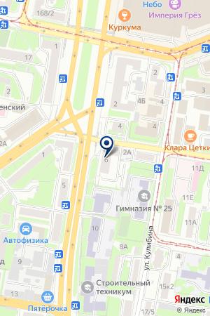 ПРОИЗВОДСТВЕННАЯ ФИРМА ЭКСИО МЕБЕЛЬ на карте Нижнего Новгорода