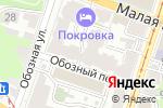 Схема проезда до компании На улице Обозной в Нижнем Новгороде