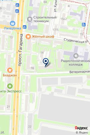АВТОМОЙКА КОМПАНИЯ НОРДХИМ на карте Нижнего Новгорода
