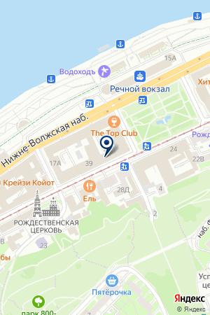 НИЖЕГОРОДСКИЙ ФИЛИАЛ ВЕЗА на карте Нижнего Новгорода