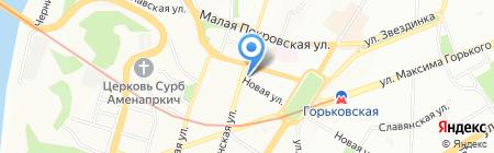 Лана на карте Нижнего Новгорода