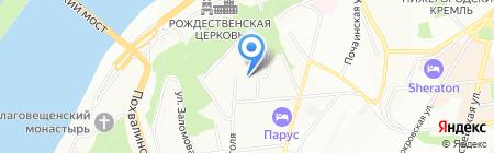 Средняя общеобразовательная школа №33 с углубленным изучением отдельных предметов на карте Нижнего Новгорода