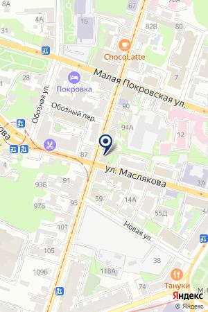 ЮПИТЕРУС на карте Нижнего Новгорода