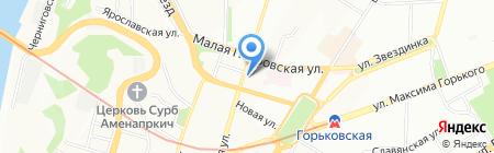 Сундук на карте Нижнего Новгорода