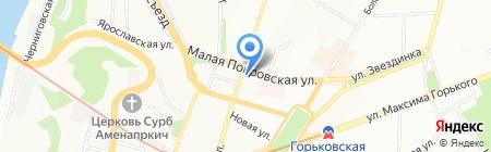 Профессиональный лицей №60 на карте Нижнего Новгорода