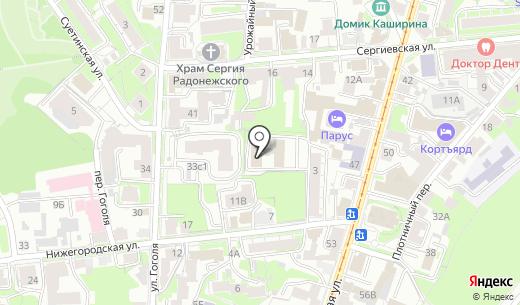Биос. Схема проезда в Нижнем Новгороде
