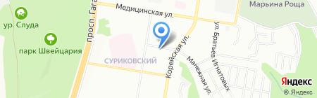 Сахарный дол на карте Нижнего Новгорода