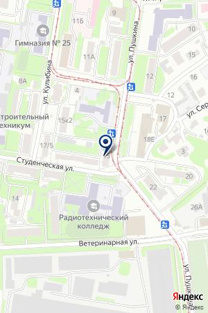 ДЕТСКИЙ САД №45 на карте Нижнего Новгорода