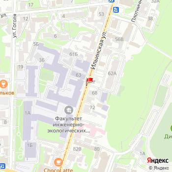 г. Нижний Новгород, ул. Ильинская, на карта