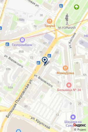 МАГАЗИН ДОМАШНИЙ КОМПЬЮТЕР на карте Нижнего Новгорода