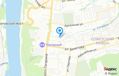 Местоположение на карте пункта техосмотра по адресу г Нижний Новгород, пер Светлогорский, д 3