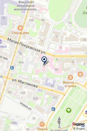 МСЧ на карте Нижнего Новгорода