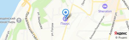 Сандар на карте Нижнего Новгорода