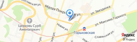 Школа-интернат №5 на карте Нижнего Новгорода
