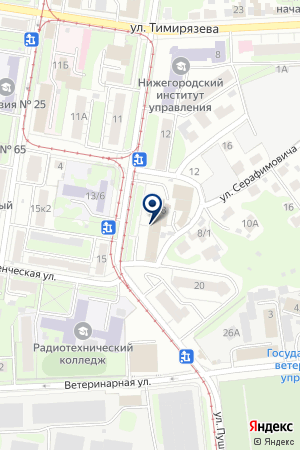 ПРОИЗВОДСТВЕННАЯ ФИРМА КРИТ на карте Нижнего Новгорода