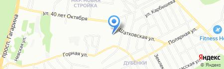 Средняя общеобразовательная школа №140 на карте Нижнего Новгорода