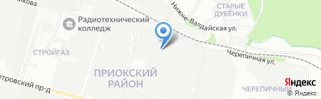 Экспо мебель на карте Нижнего Новгорода