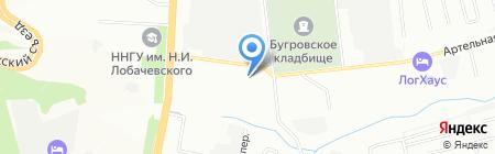 Уголок садовода на карте Нижнего Новгорода