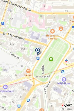 ТФ ОНЛАЙН на карте Нижнего Новгорода