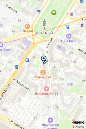ТФ СТЕЛТ ТЕЛЕКОМ на карте Нижнего Новгорода