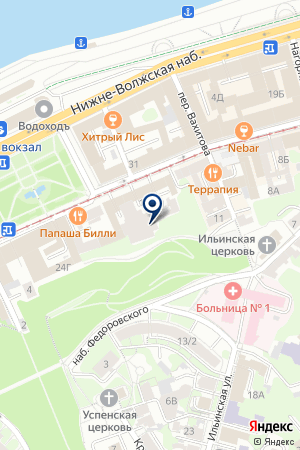 СТРЕЛКА на карте Нижнего Новгорода