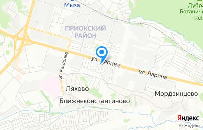 Местоположение на карте пункта техосмотра по адресу г Нижний Новгород, ул Ларина, д 13