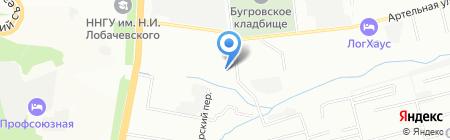 МИЛС на карте Нижнего Новгорода